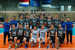 12-06-2019 NED: Golden League Netherlands - Estonia, Hoogeveen<br /> Fifth match poule B - The Netherlands win 3-0 from Estonia in the series of the group stage in the Golden European League / Team photo Estonia