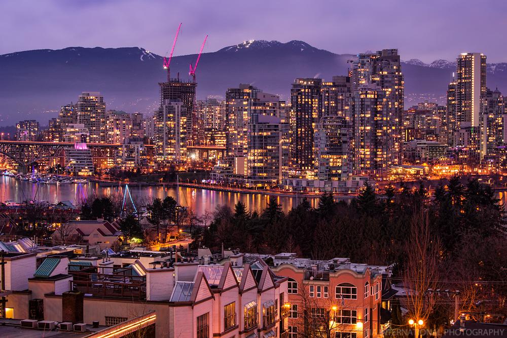 Vancouver Skyline, Evening Illumination