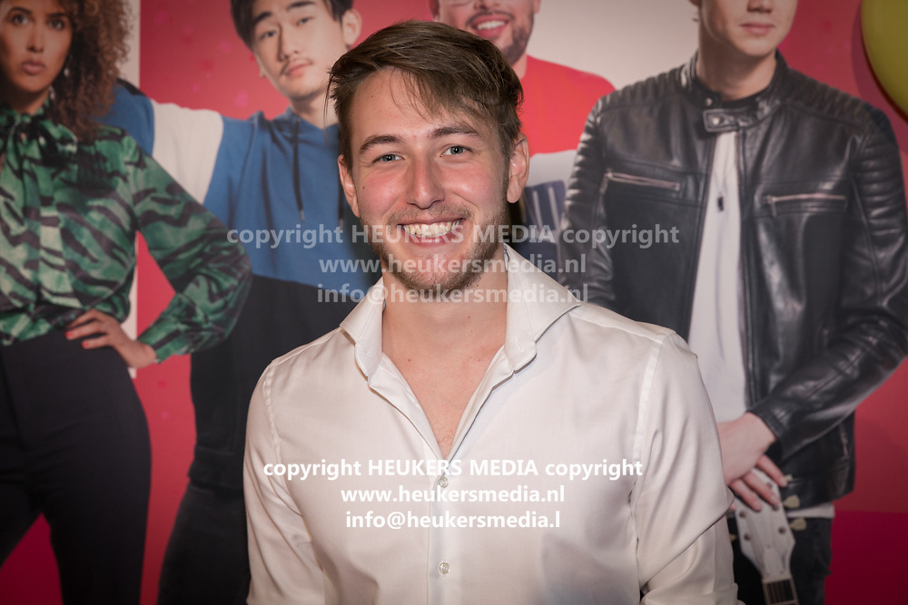 2019, September 20. Pathe ArenA, Amsterdam, the Netherlands. Jeremy Frieser at the premiere of Misfit 2.