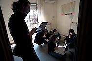 Roma 19  Febbraio 2011.Occupato dai studenti dell'Università La Sapienza,precari metropolitani,cittadini del quartiere, un immobile in Via Monte Meta, al Tufello in passato sede di alcuni uffici del Municipio IV, per  adibirlo a studentato.