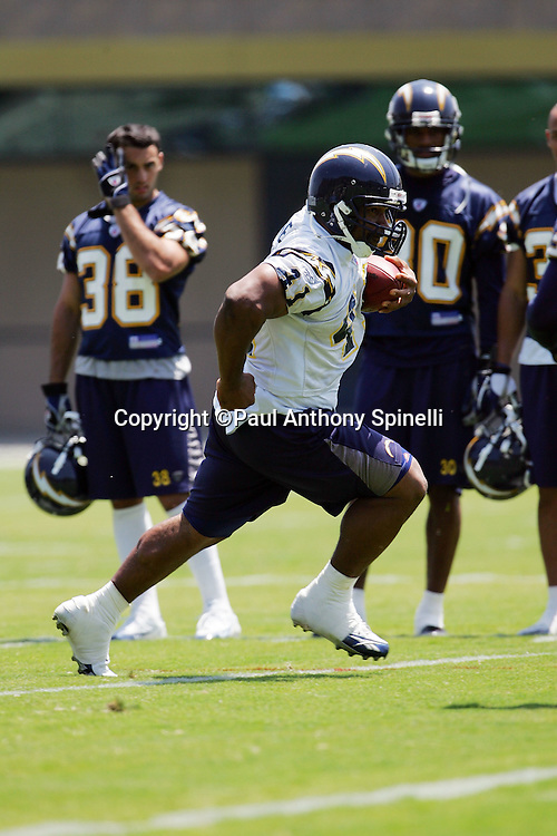 SAN DIEGO - JUNE 10:  Fullback Lorenzo Neal #41 of the San Diego Chargers works out during mini camp at Chargers Park on June 10, 2006 in San Diego, California. ©Paul Anthony Spinelli *** Local Caption *** Lorenzo Neal