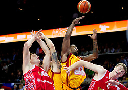 Pero Antic of Macedonia and Bo McCalebb of Macedonia vs Timofey Mozgov of Russia and Andrey Vorontsevich of Russia during basketball game between National basketball teams of F.Y.R. of Macedonia and Russia of 3rd place game of FIBA Europe Eurobasket Lithuania 2011, on September 18, 2011, in Arena Zalgirio, Kaunas, Lithuania. (Photo by Vid Ponikvar / Sportida)