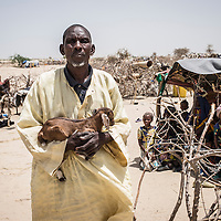 Maina M'Bodo is a 60-year-old herder. He has two wives and 10 children. His family owned around a hundred cows that they used to graze on the islands on the Nigerian side of Lake Chad, before the fighting forced them to move. <br /> <br /> &ldquo;It happened in April last year. We&rsquo;d only been in Niger for three months. The rebels attacked us and killed five members of my family, including one of my children. They took all our cattle. By taking my cows, they&rsquo;ve taken my life,&rdquo; he says.<br /> <br /> When the family arrived in Yebi, near the border with Nigeria, the village chief gave them some land to set up home. &ldquo;I sell straw now and my wives earn a living by grinding millet for the locals.&rdquo; <br /> <br /> Maina&rsquo;s family have received building materials and food aid from the ICRC. &ldquo;The neighbours gave us two small goats to have a bit of milk. But if we had a couple of cows too, we&rsquo;d be off &ndash; even though it&rsquo;d take years to build up a herd again.&rdquo;