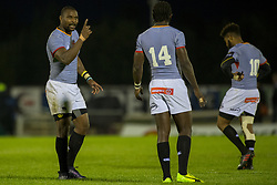 September 9, 2017 - Galway, Ireland - Luzuko Vulindlu talks to Yaw Penxe of S.Kings during the Guinness PRO14 rugby match between Connacht Rugby and Southern Kings at the Sportsground in Galway, Ireland on September 9, 2017  (Credit Image: © Andrew Surma/NurPhoto via ZUMA Press)
