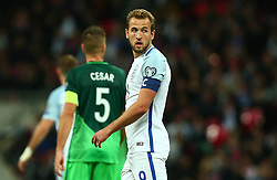 Harry Kane of England looks on - Mandatory by-line: Robbie Stephenson/JMP - 05/10/2017 - FOOTBALL - Wembley Stadium - London, United Kingdom - England v Slovenia - World Cup qualifier