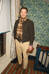 PAUL SCULFOR at a cocktail reception hosted by the Woolmark Company, Pierre Lagrange and the Savile Row Bespoke Association to celebrate 'The Ambassador's Project' for London Collections Mens at Marks Club, Charles street, London on 8th January 2016.