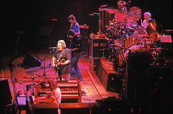The Grateful Dead in Concert at the Brendan Bryne Arena, East Rutherford NJ, on April 1st 1988.View from stage left behind Brent.