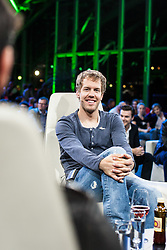"14.05.2012, Hangar 7, Salzburg, AUT, Sport und Talk, Live aus dem Hangar 7, im Bild Sebastian Vettel (GER, Red Bull Racing) // during the Servus TV show ""Sport and Talk live at the Hangar 7, Salzburg, Austria on 2012/05/14, EXPA Pictures © 2012, PhotoCredit: EXPA/ Juergen Feichter"