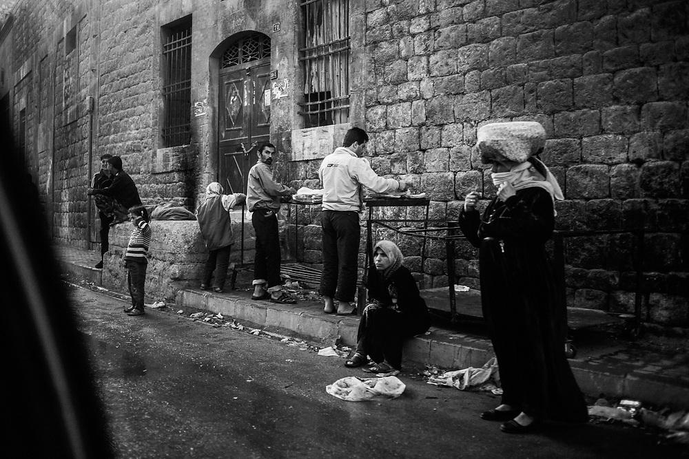 Aleppo, Syria, 2012-10-21.<br /> Tareeq Al-Bab district.<br /> Daily life in Aleppo.