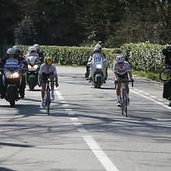 03-04-2016: Wielrennen: Ronde van Vlaanderen vrouwen: Oudenaarde  <br />OUDENAARDE (BEL) cycling  <br />The sixth race in the UCI Womensworldtour is the ronde van Vlaanderen. A race over the famous Flemish climbs.<br />Emma Johansson and Lizzy Armitstead in an attack