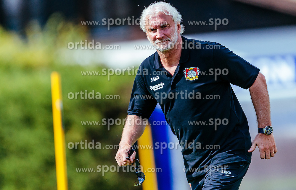 29.07.2016, Alois Latini Stadion, Zell am See, AUT, Bayer 04 Leverkusen, Trainingslager, im Bild Sportdirektor Rudi Voeller (Bayer 04 Leverkusen) laeuft // during the Trainingscamp of German Bundesliga Club Bayer 04 Leverkusen at the Alois Latini Stadium in Zell am See, Austria on 2016/07/29. EXPA Pictures © 2016, PhotoCredit: EXPA/ JFK