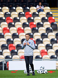 NEWPORT, WALES - Thursday, August 30, 2018: England's manager Phil Neville during a training session at Rodney Parade ahead of the final FIFA Women's World Cup 2019 Qualifying Round Group 1 match between Wales and England. (Pic by David Rawcliffe/Propaganda)