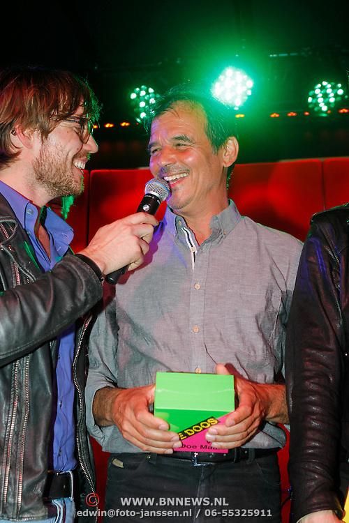 NLD/Amsterdam/20120918 - Cd Box presentatie Doe Maar ,Chiel Beelen met Ernst Jansz en de Cd/Dvd box