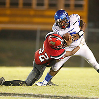 Thomas Wells | Buy at PHOTOS.DJOURNAL.COM<br /> Aberdeen's Dajaun Rogers gets pulled down for a loss by Shannon's Tyler Graham in the third quarter Friday night.