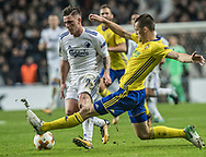 FOOTBALL: Benjamin Verbič (FC København) is tackled by Ondřej Bačo (FC Zlin) during the UEFA Europa League Group F match between FC København and FC Zlin at Parken Stadium, Copenhagen, Denmark on November 2, 2017. Photo: Claus Birch