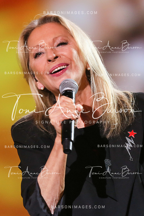 "PARIS, FRANCE - FEBRUARY 10:  Veronique Sanson performs during the ""32nd Victoires de la Musique 2017"" at Le Zenith on February 10, 2017 in Paris, France.  (Photo by Tony Barson/FilmMagic)"