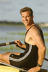 All American man rowing