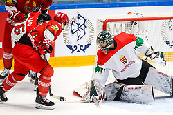 Yegor Sharangovich of Belarus vs Adam Vay of Hungary during ice hockey match between Belarus and Hungary at IIHF World Championship DIV. I Group A Kazakhstan 2019, on April 30, 2019 in Barys Arena, Nur-Sultan, Kazakhstan. Photo by Matic Klansek Velej / Sportida