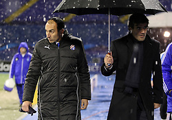 04.12.2012, Stadium Maksimir, Zagreb, ESP, UEFA CL, Dinamo Zagreb vs Dynamo Kiew, Gruppe A, im Bild Krunoslav Jurcic and Zoran Mamic // during UEFA Champions League group A match between Dinamo Zagreb and Dynamo Kiew at the Stadium  Maksimir, Zagreb, Croatia on 2012/12/04. EXPA Pictures © 2012, PhotoCredit: EXPA/ Pixsell/ Marko Prpic..***** ATTENTION - for AUT, SLO, SUI, ITA, FRA only *****