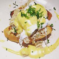Eggs Nouvelle Orleans - poached eggs, lump blue crab meat, shallots, house made hollandaise