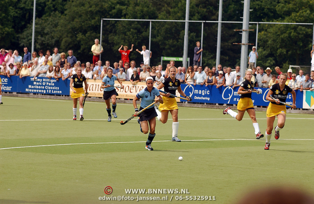 Kampioens hockey wedstrijd Laren - Den Bosch