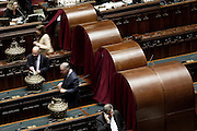 Rome jan 29th 2015, the Parliament votes for election of italin President of Republic. In the picture parliamentarists at vote