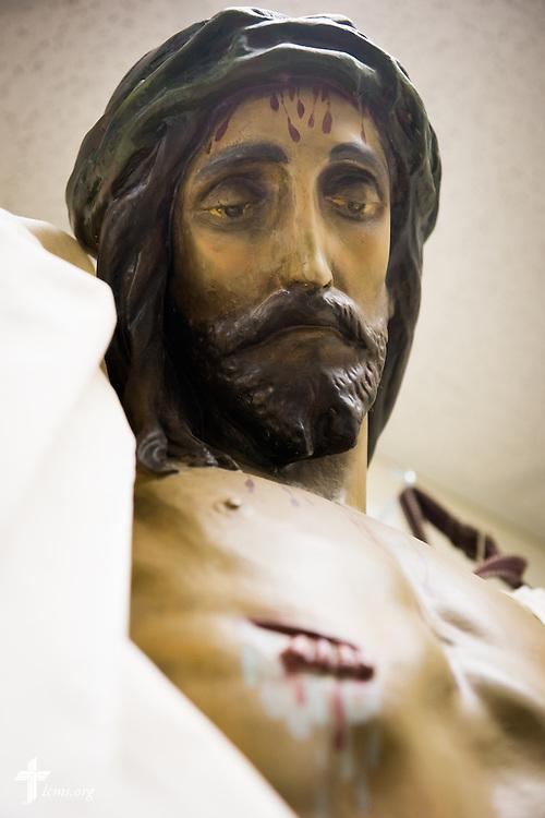 A crucifix hangs Sunday, Nov. 23, 2014, at Living Faith Lutheran Church in Cumming, Ga. LCMS Communications/Erik M. Lunsford