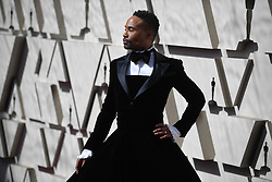 February 24, 2019 - Los Angeles, California, U.S - BILLY PORTER wearing a velvet tuxedo gown during red carpet arrivals for the 91st Academy Awards in Hollywood. (Credit Image: © Kevin Sullivan via ZUMA Wire)