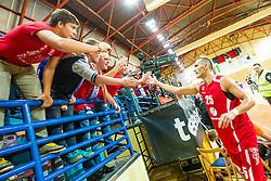 Dragisa Drobnjak of KK Tajfun Sentjur after winning supercup basketball match between KK Krka Novo mesto and KK Tajfun Sentjur at Superpokal 2015, on September 26, 2015 in SKofja Loka, Poden Sports hall, Slovenia. Photo by Grega Valancic / Sportida.com