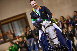 Lamberts Jan, BEL, G Majo van de Caloo Meerschen<br /> Nationaal Indoor Kampioenschap Pony's LRV <br /> Oud Heverlee 2019<br /> © Hippo Foto - Dirk Caremans<br /> 10/03/2019
