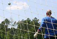 Goalkeeper Marcus Hahnemann watches the ball on Wednesday, May 17th, 2006 at SAS Soccer Park in Cary, North Carolina. The United States Men's National Soccer Team held a training session as part of their preparations for the upcoming 2006 FIFA World Cup Finals being held in Germany.