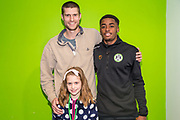Forest Green Rovers Reece Brown(10) with his sponsors during the EFL Sky Bet League 2 match between Forest Green Rovers and Carlisle United at the New Lawn, Forest Green, United Kingdom on 16 March 2019.