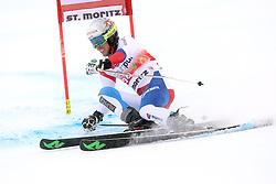 02.02.2014, Corviglia, St. Moritz, SUI, FIS Weltcup Ski Alpin, Riesenslalom, Herren, im Bild Elia Zurbriggen (SUI) // during the Mens Giant Slalom of the St. Moritz FIS Ski Alpine World Cup at the Corviglia course in St. Moritz, Switzerland on 2014/02/02. EXPA Pictures © 2014, PhotoCredit: EXPA/ Freshfocus/ Claude Diderich<br /> <br /> *****ATTENTION - for AUT, SLO, CRO, SRB, BIH, MAZ only*****