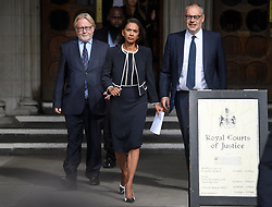 © Licensed to London News Pictures. 06/09/2019. London, UK. GINA MILLER is seen at the The Royal Courts of Justice in London after a ruling on a judicial review of Boris Johnson's planned suspension of Parliament. The case has been brought by remain campaigner Gina Miller, with support from former British Prime Minister John Major. Photo credit: Ben Cawthra/LNP