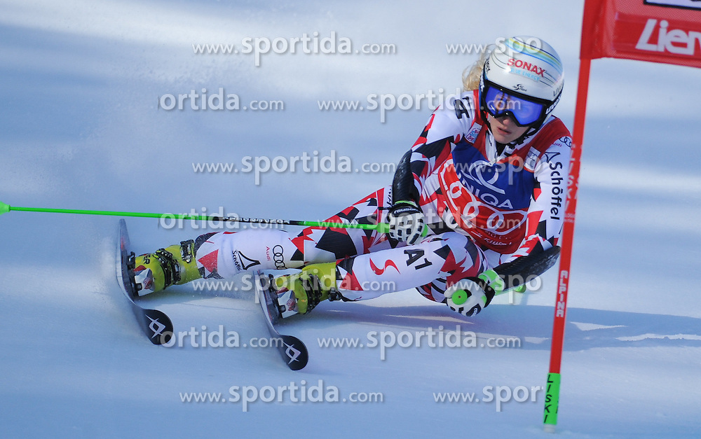 28.12.2015, Hochstein, Lienz, AUT, FIS Weltcup Ski Alpin, Lienz, Riesenslalom, Damen, 1. Durchgang, im Bild Eva-Maria Brem (AUT) // Eva-Maria Brem of Austria during 1st run of ladies Giant Slalom of the Lienz FIS Ski Alpine World Cup at the Hochstein in Lienz, Austria on 2015/12/28. EXPA Pictures © 2015, PhotoCredit: EXPA/ Erich Spiess