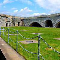 Courtyard at Fort Knox in Prospect, Maine<br />