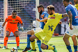 April 8, 2018 - Naples, Italy - Lorenzo Tonelli (SSC Napoli)..during the Italian Serie A football SSC Napoli v Chievo Verona at S. Paolo Stadium..in Naples on April 08, 2018  (Credit Image: © Paolo Manzo/NurPhoto via ZUMA Press)
