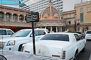 High roller parking for a faded luxury ride. At the Peppermill Resort and Casino.