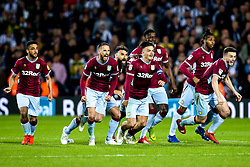 Aston Villa celebrate winning on penalties against West Bromwich Albion to book their place in the Sky Bet Championship Playoff Final - Mandatory by-line: Robbie Stephenson/JMP - 14/05/2019 - FOOTBALL - The Hawthorns - West Bromwich, England - West Bromwich Albion v Aston Villa - Sky Bet Championship Play-off Semi-Final 2nd Leg