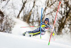 """Anne-Sophie Barthet (FRA) during FIS Alpine Ski World Cup 2016/17 Ladies Slalom race named """"Snow Queen Trophy 2017"""", on January 3, 2017 in Course Crveni Spust at Sljeme hill, Zagreb, Croatia. Photo by Žiga Zupan / Sportida"""