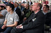 Executive Director Greg Markle looks on during the grand opening ceremony for Operation Fresh Start on Milwaukee Street in Madison, WI on Thursday, April 11, 2019.