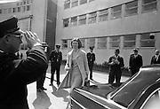 Princess Margaretha of Sweden and her husband, John Ambler, at Dublin Airport..28.04.1967