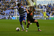 Reading's Lucas Piazon shields the ball during the Capital One Cup match between Reading and Everton at the Madejski Stadium, Reading, England on 22 September 2015. Photo by Mark Davies.