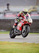 Championship leader Shane Shakey Byrne (67) Be Wiser Ducati in the warm up at the BSB Championship at the TT Circuit,  Assen, Netherlands on 2nd October 2016. Photo by Nigel Cole.