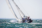 Heritage, 12 Meter Class, racing in the Opera House Cup regatta.