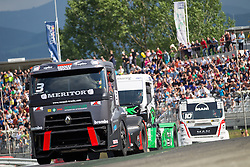 06.07.2013, Red Bull Ring, Spielberg, AUT, Truck Race Trophy, Renntag 1, im Bild Adam Lacko, (CZE, MKR Technology, #3, 1. Platz), Norbert Kiss, (HUN, Oxxo Energy Truck Race Team, #10, 2. Platz) // during the Truck Race Trophy 2013 at the Red Bull Ring in Spielberg, Austria, 2013/07/06, EXPA Pictures © 2013, PhotoCredit: EXPA/ M.Kuhnke