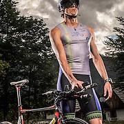Portrait of Ironman Triathlete David Plese