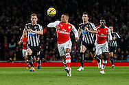 Alex Oxlade-Chamberlain of Arsenal during the Barclays Premier League match at the Emirates Stadium, London<br /> Picture by David Horn/Focus Images Ltd +44 7545 970036<br /> 13/12/2014