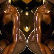 Artistic African American female nude study