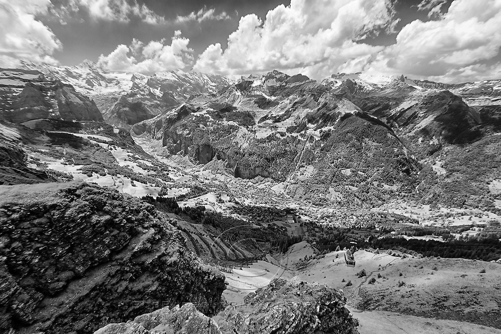 Infrared photo, Switzerland, Alps, Wengen,